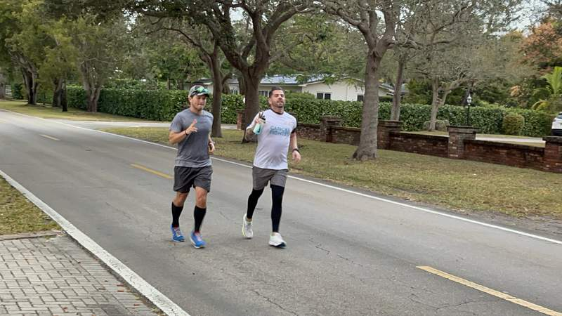 Mannie de la Maza ran 42 miles across Miami-Dade County to raise money for Cystic Fibrosis research.