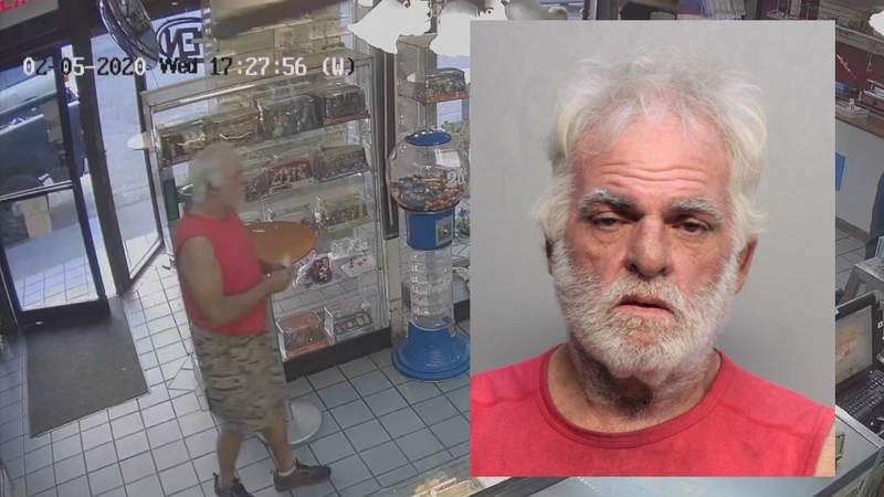 61-year-old Fernando Garcia was arrested after stealing a cake from a Miami bakery.