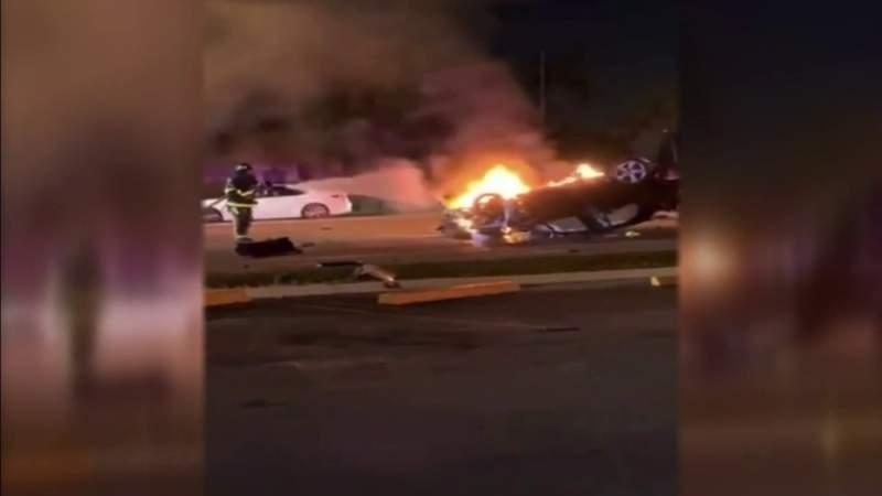 Driver fleeing police dies in fiery Broward wreck