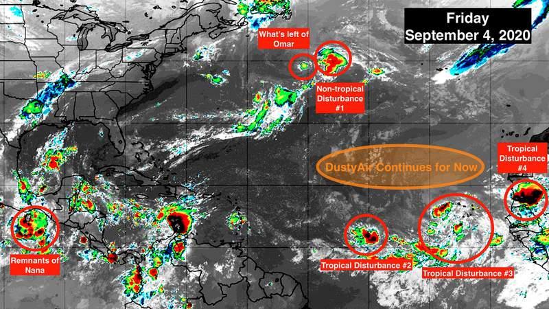 Sept. 4 satellite image of the tropics.