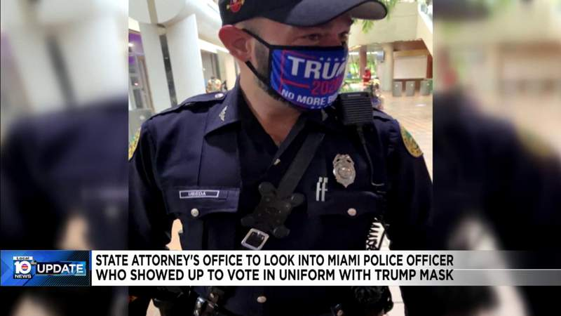State Attorney's Office says they'll look into officer who wore political mask while in uniform