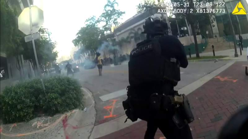 New video shows moment woman was shot in face with rubber bullet during Fort Lauderdale protest
