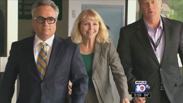 Broward County Judge Lynn Rosenthal leaves jail after her DUI arrest.