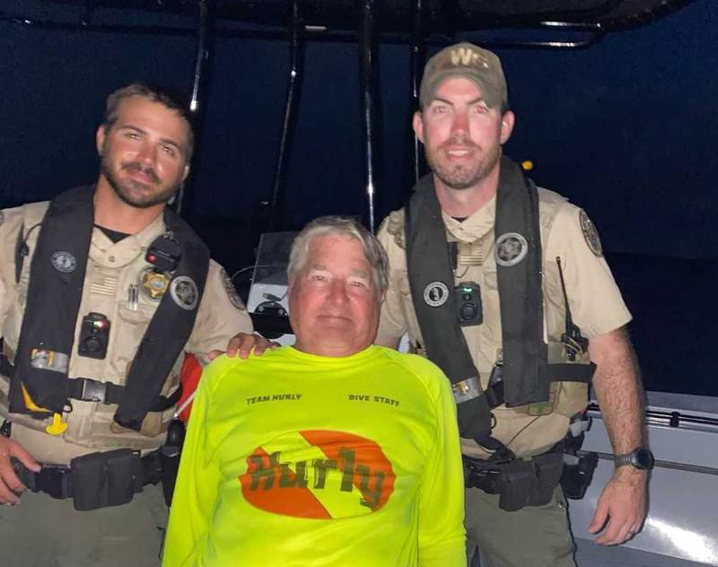 A diver was rescued off of Key West by the Florida Fish and Wildlife Conservation Commission