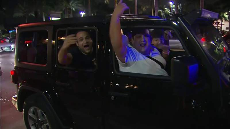 Heat fans party in the streets after Miami clinches spot in NBA Finals