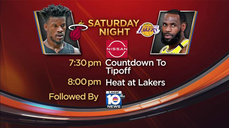Local 10 has you covered for Saturday night's primetime matchup between the Heat and Lakers.