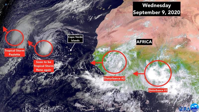 Sept. 9 satellite image of the tropics.