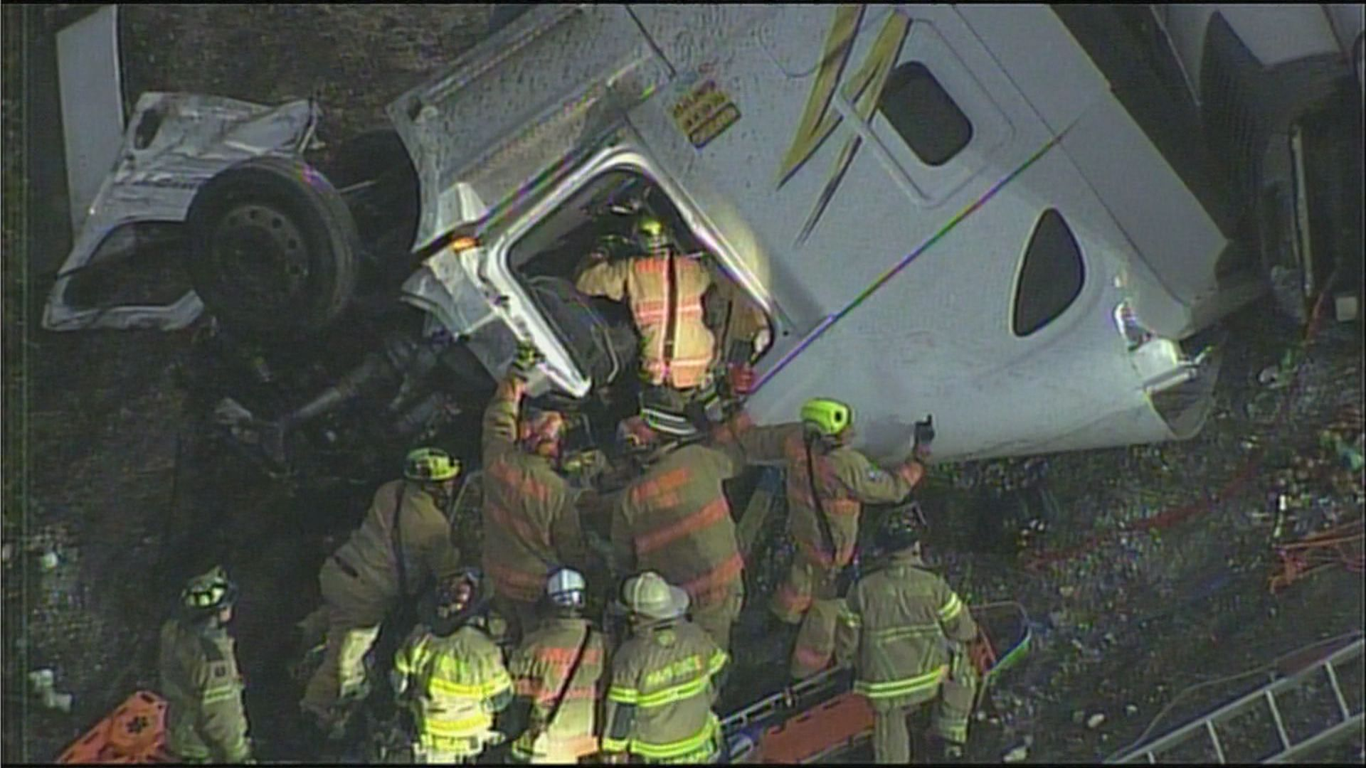 Semi truck crash on Turnpike.
