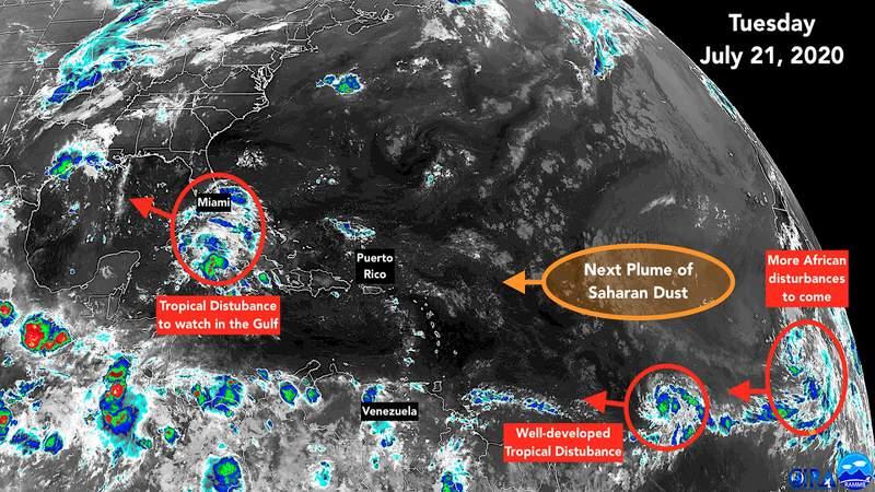 July 21, 2020, satellite image of the tropics.