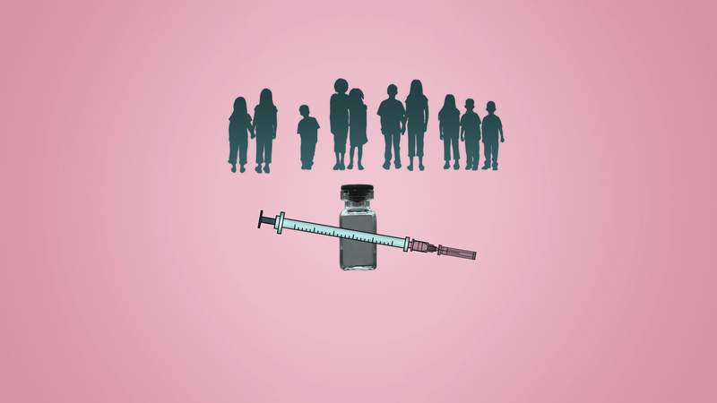 Will children be able to get COVID-19 vaccines? AP Illustration/Peter Hamlin