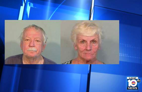 William James Nash, 79, and Carole Plumley Harwood, 75, were arrested Friday night after an incident involving a flare gun at a Florida Keys home.