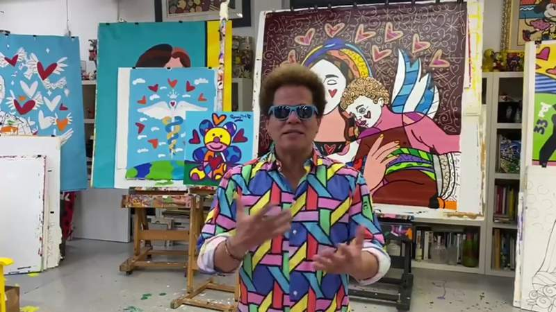 Romero Britto helps to keep children busy at home