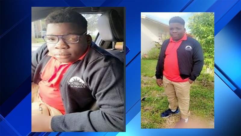 Missing 12-year-old, Markus Eizner Etienne, in Boynton Beach
