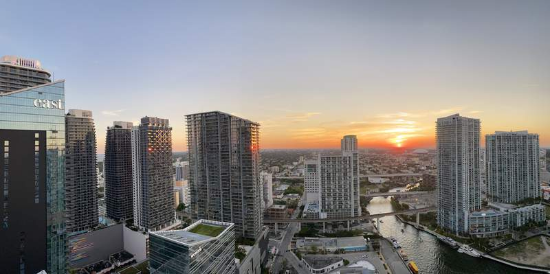View of Brickell at sunset. Photo by Nicole Lopez-Alvar