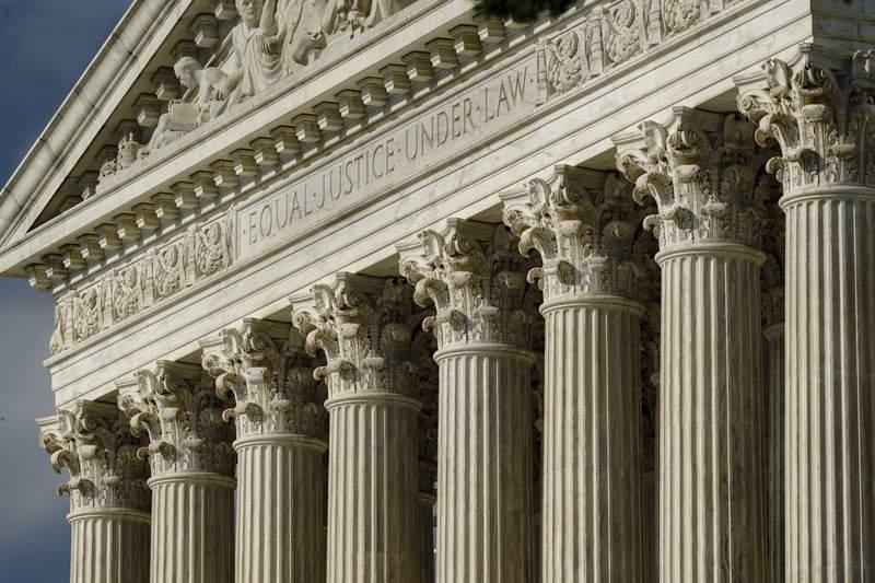 FILE - This June 8, 2021, file photo shows the Supreme Court in Washington. (AP Photo/J. Scott Applewhite, FIle)