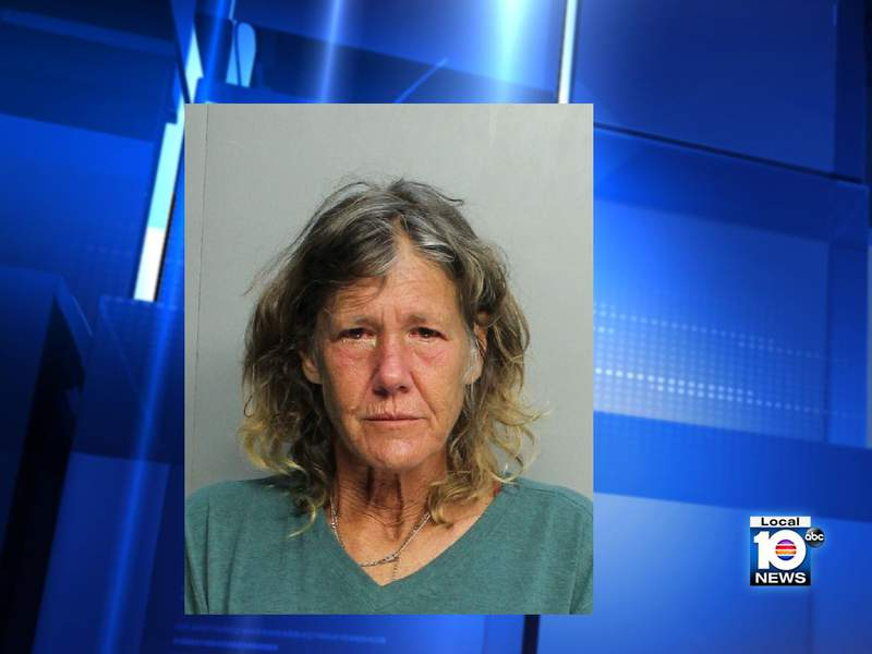 Edith Page Jones, 60, was arrested after police said she lit a bucket on fire containing narcotics.