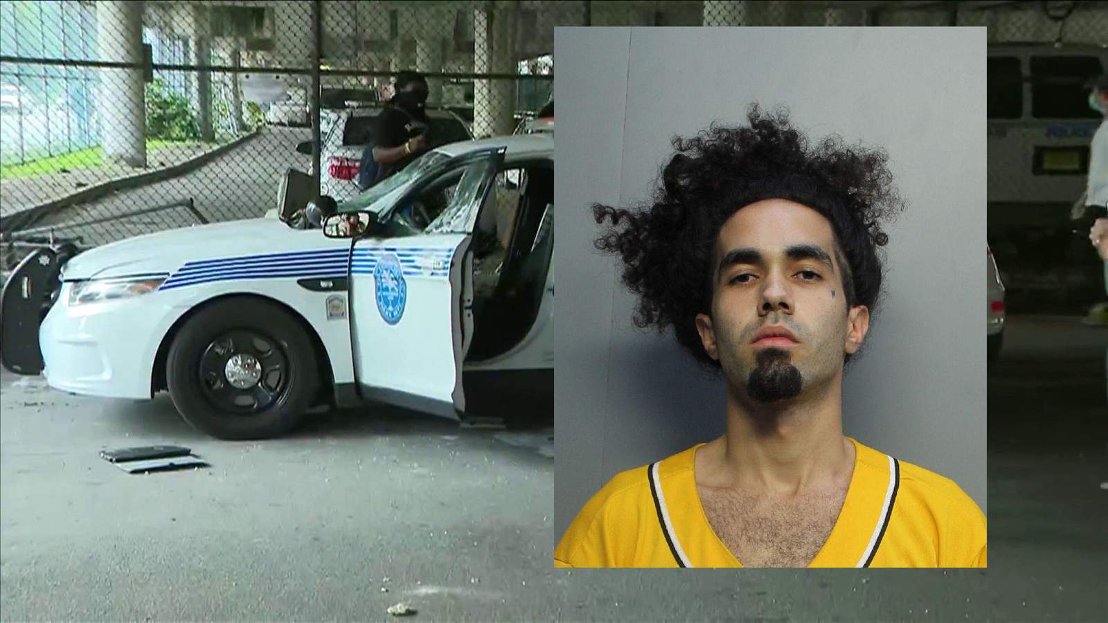 Mugshot for Marco Lopez, who was arrested for damaging police cars during a George Floyd protest in Miami on May 30.