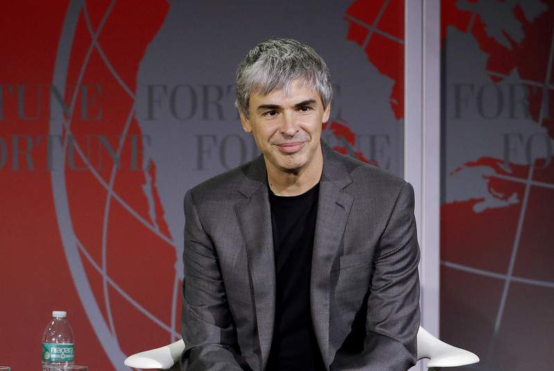 FILE - In this Nov. 2, 2015, file photo, Google co-founder Larry Page speaks at the Fortune Global Forum in San Francisco. Page has gained New Zealand residency, officials confirmed Friday, Aug. 6, 2021, stoking debate over whether extremely wealthy people can essentially buy access to the South Pacific country. (AP Photo/Jeff Chiu, File)