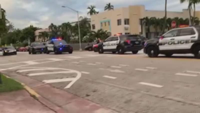 Miami Beach police locate a bicyclist who hit a pedestrian.
