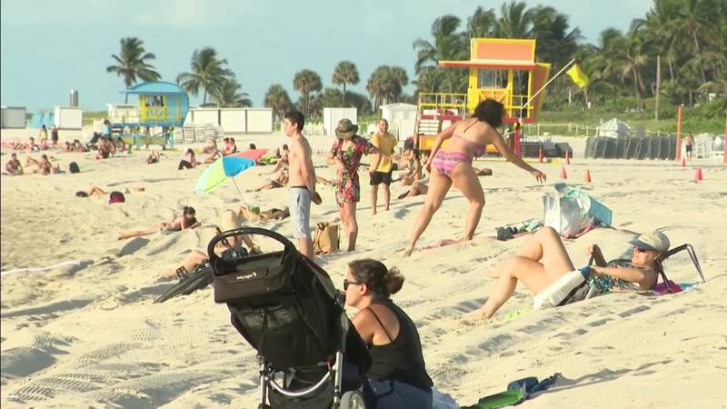 Beaches reopen in Miami-Dade County, welcomed by beautiful weather