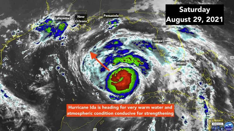 Hurricane Ida satellite imaging