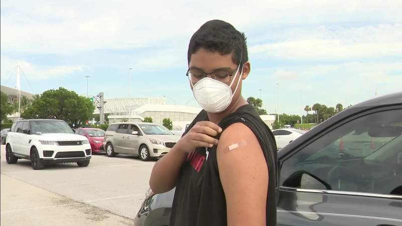 Teens talk about getting the COVID-19 vaccine at Hard Rock Stadium