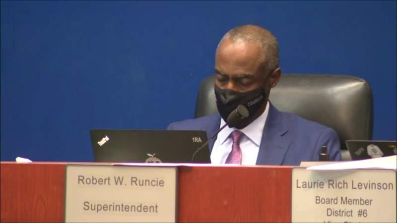 Broward County School Superintendent Robert Runcie's not guilty plea entered formally in court