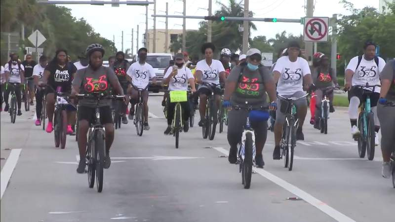 Bike ride for justice held in Miami-Dade early Sunday morning