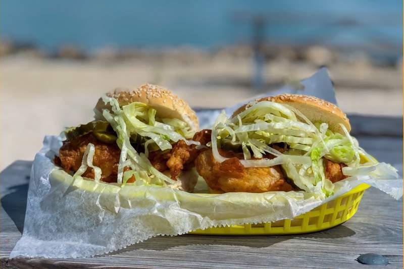 Sweet Tea Fried Chicken Sandwiches
