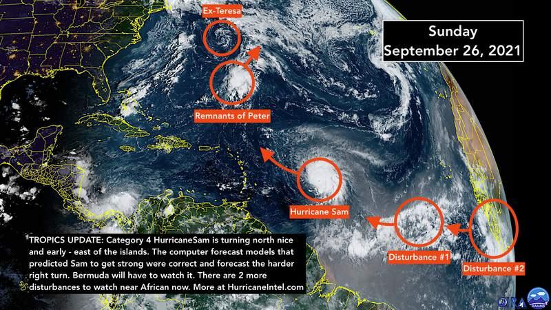 Satellite imaging for the Atlantic tropics storm activity