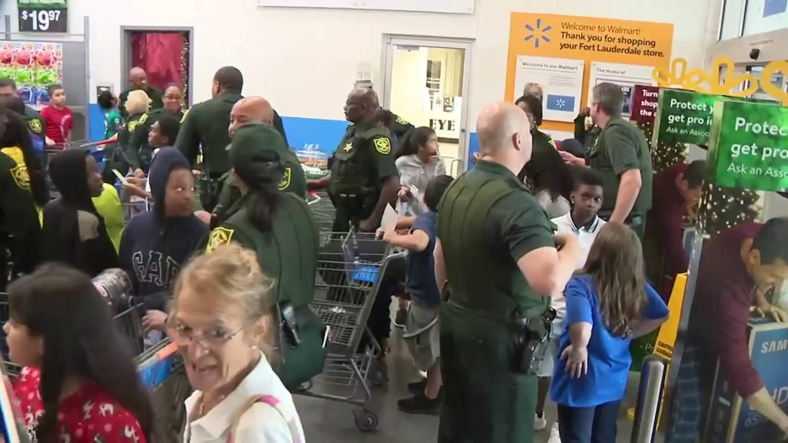 Students Shop With Sheriff Tony, Deputies
