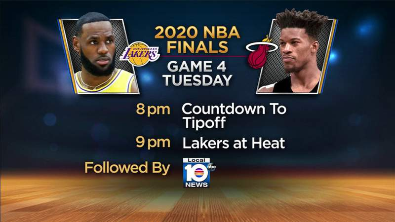 Game 4 of the NBA Finals is Tuesday night. Local 10 has you covered.