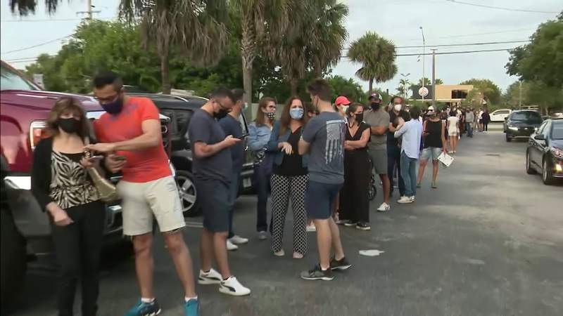 Northwest Miami-Dade COVID vaccination pop-up site sees long lines for one-dose J&J shot