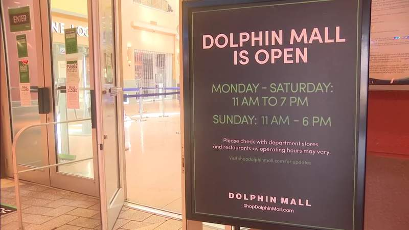 Dolphin Mall opens with shoppers ready to go