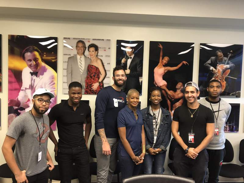 Arsht Center Theater Apprentices (from left) Andre Best, Kamari Rodriguez, Ayana Vail, Rafael Otero and Nathan Reid.