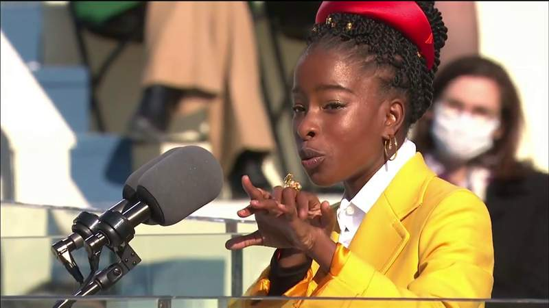 'Being American is more than a pride we inherit,' poet says during inauguration