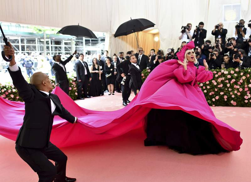 FILE - Lady Gaga attends The Metropolitan Museum of Art's Costume Institute benefit gala on May 6, 2019, in New York. The Metropolitan Museum of Art announced Monday that the annual high-wattage celebration of both fashion and celebrity -- held virtually in 2020 because of the pandemic -- will return in person, first in September, then again on its usual date on the first Monday in May. (Photo by Charles Sykes/Invision/AP, File)