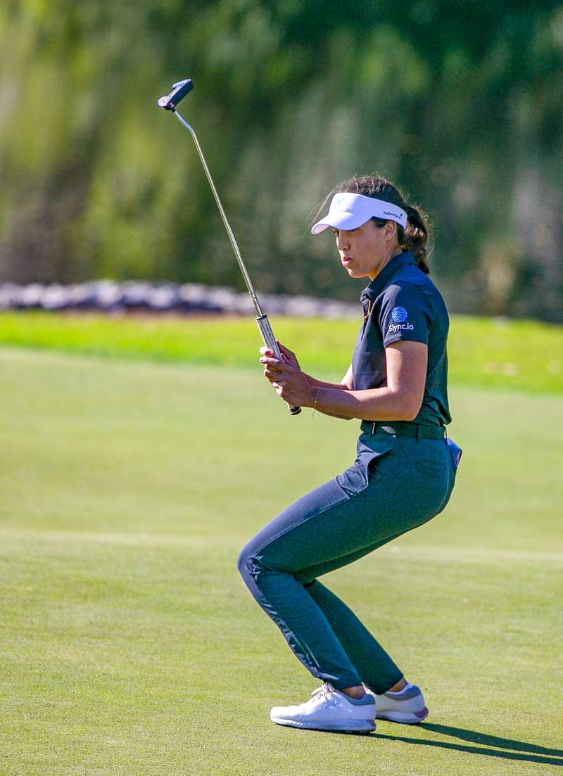 Albane Valenzuela misses a putt during the final round of the LPGA Drive On Championship at Golden Ocala in Ocala, Florida on Sunday, March 7, 2020. [Alan Youngblood/Special to the Ocala Star-Banner]