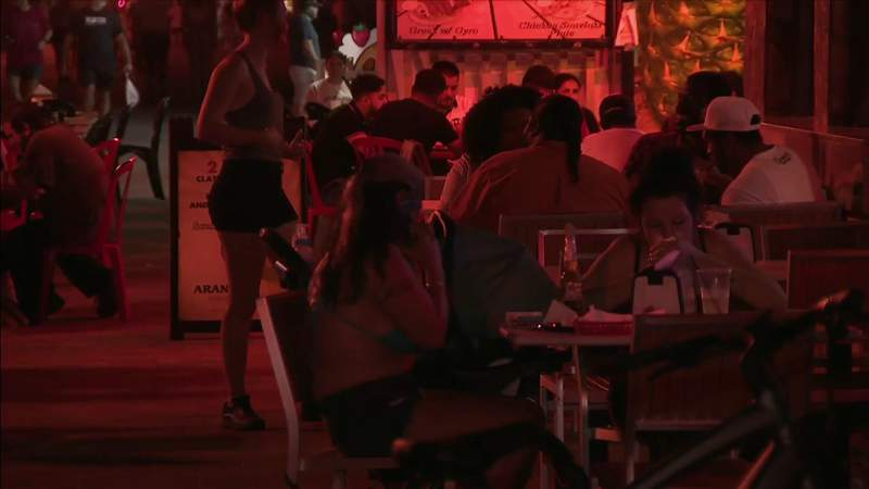 Hollywood crowds return to restaurants after reopening during pandemic