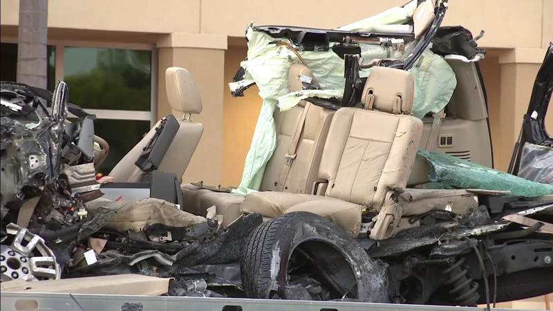 Horrific crash in Wilton Manors leaves Ford SUV unrecognizable