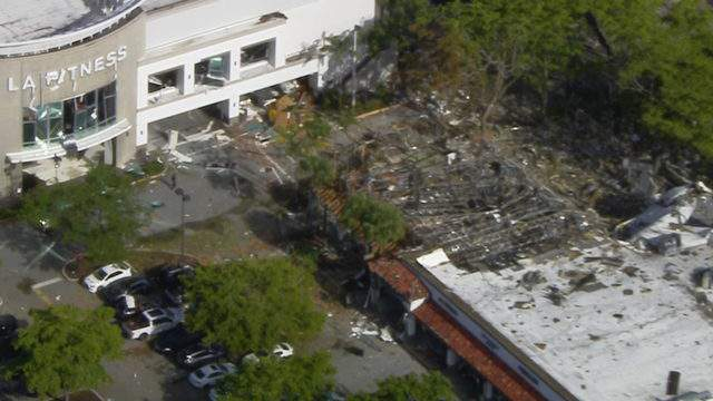 The LA Fitness in Plantation was among the businesses damaged in the explosion. A view from Sky 10 showed the aftermath a day after the explosion.