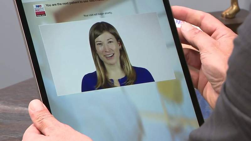 Doctors utilizing Telehealth technology to see patients during coronavirus pandemic