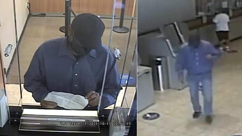 The FBI says this man robbed a Chase Bank branch in Hialeah on Monday, Oct. 11, 2021.