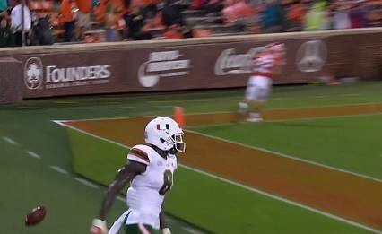 The Miami Hurricanes fall to the Clemson Tigers on Saturday, Oct. 10.