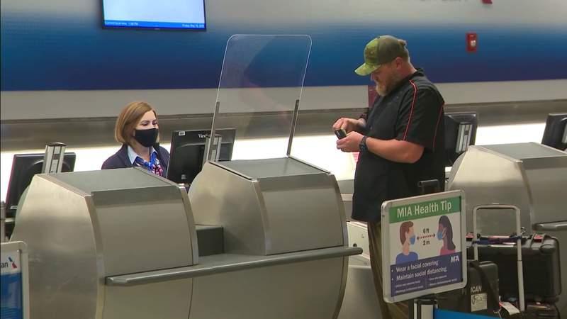 Coronavirus precautions include physical changes at Miami International Airport