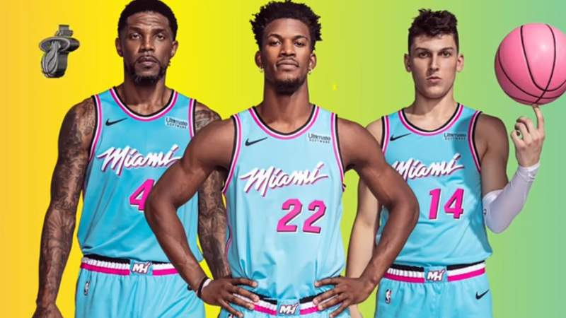 "Miami Heat unveils new ""ViceWave"" uniforms"