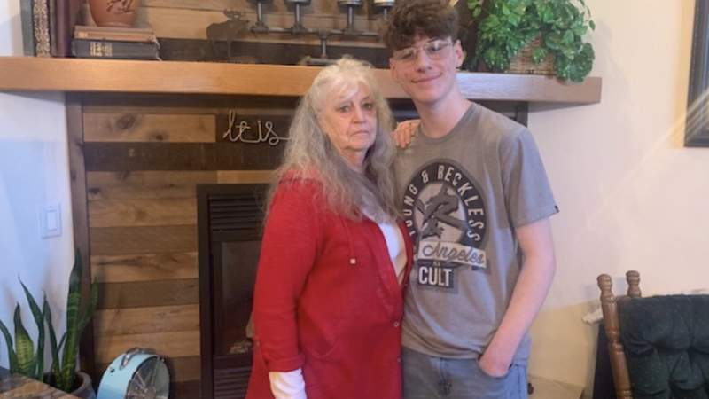 Melodie Passmore and her grandson Collin Clabaugh