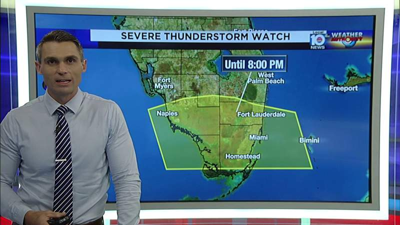 Severe weather rolling into South Florida