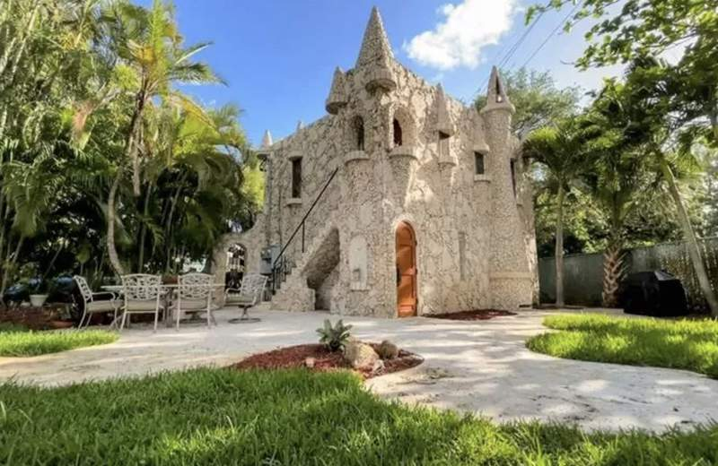 This miniature castle is on sale in Fort Lauderdale.