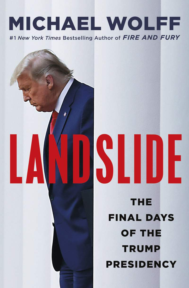 """This cover image released by Holt shows """"Landslide: The Final Days of the Trump Presidency"""" by Michael Wolff. (Holt via AP)"""